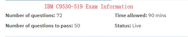 C9530-519 exam information