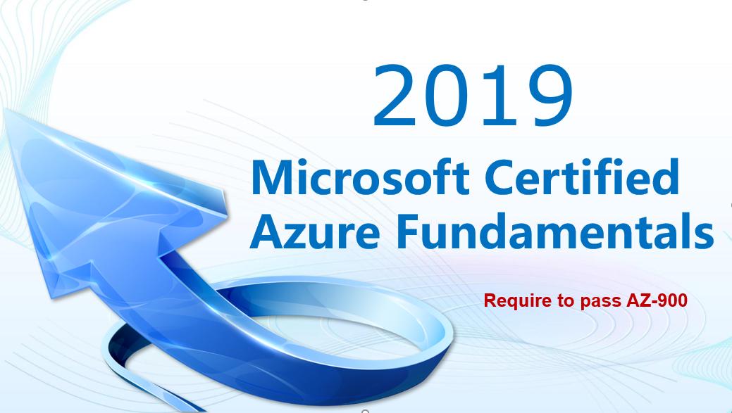 Microsoft certified Azure Fundamentals certification