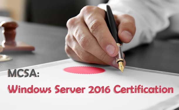 MCSA Windows Server 2016 Certification