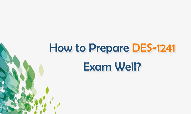 How to Prepare DES-1241 Exam Well?