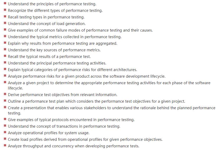 ISTQB CTFL-PT Exam Learning Objectives