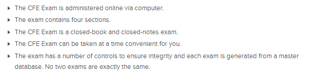 CFE Exam Format
