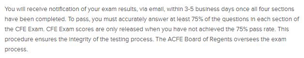 CFE Exam Results